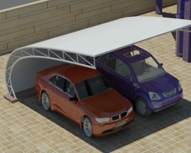 Curved Car Parking Shades