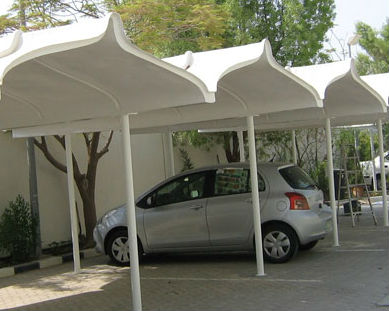GRP parking shade