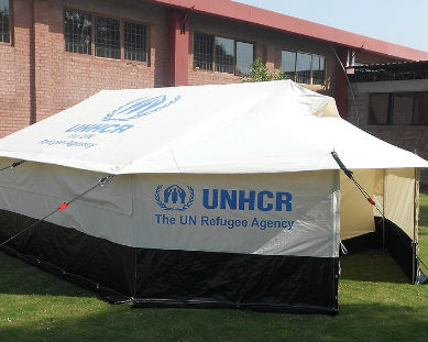 UN Refugee Tent