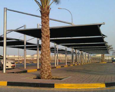 straight car parking shade