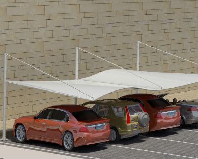 waving car parking shade